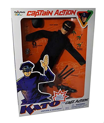 Kato Uniform and Equipment for Captain (Green Hornet Mask And Hat)