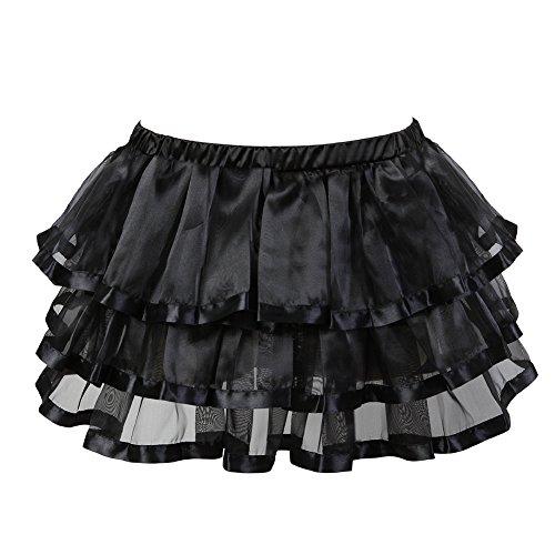 Short Bubble Skirt - frawirshau Women's Short Sexy Ballet Bubble Puffy Tutu Petticoat Skirt Black S-M