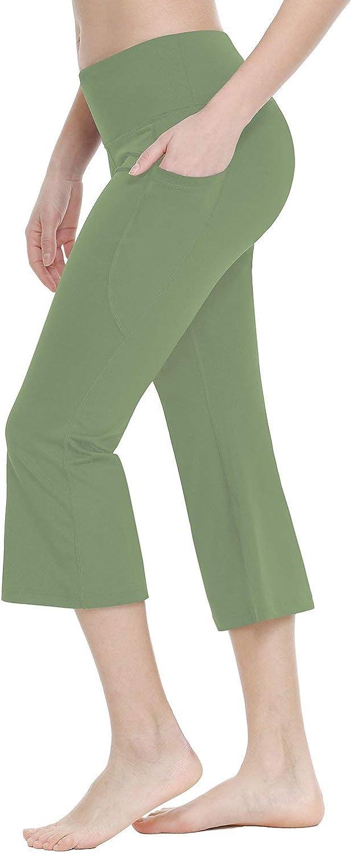 BALEAF Womens 21//23//25 Yoga Capri Pants Flare Workout Bootleg Leggings Bootcut Crop Side Pockets