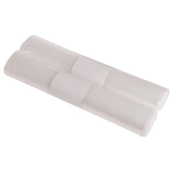 Maurer 5500300 Bolsas envasar al vacío gofrada, 20 x 600 cm, 2 rollos, Plástico, Transparente