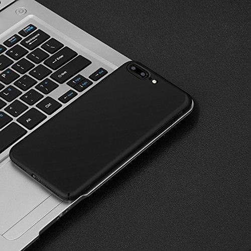 Hülle Silikonhülle für iPhone 7 Plus, iPhone 8 Plus Schutzhülle Handyhülle, GAVAER TPU Matt Schutzhülle Schutz gegen Stoß, Kratzer und Risse Für iPhone 7 PLus/8 Plus - Schwarz