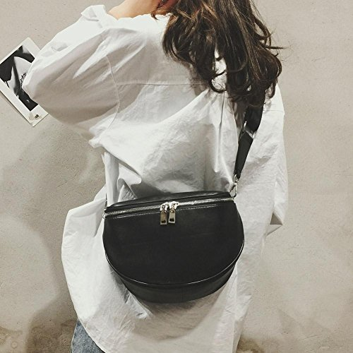 Shoulder Leather Zipper bag Fashion Waist Women Crossbody Belt Bag PU Chest Bag Casual 6Sxz8zqwt