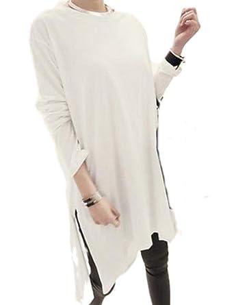ff8d2e32f0609  トーアソーア  ロング tシャツ ワンピース レディース カットソー 長袖 無地 春 秋 冬 ゆったり おしゃれ