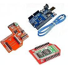 KINWAT UNO R3 + XBee Zigbee Shield RF module + Bluetooth wireless HC-06 (red)