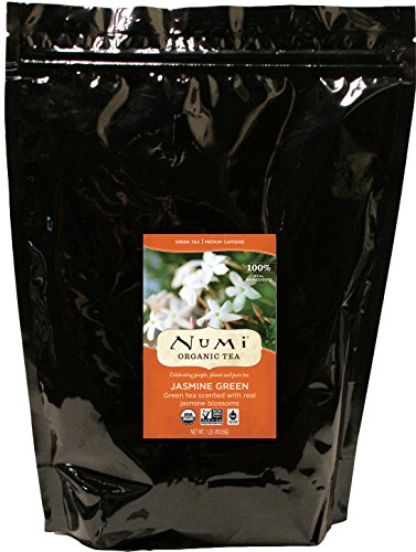 Numi Organic Tea Jasmine Green, 16 Ounce Pouch, Loose Leaf Tea (Packaging May Vary)
