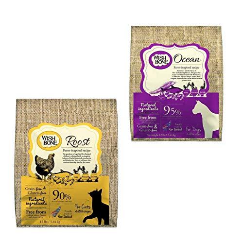 Kit: Wishbone Ocean (canino) + Wishbone Roost sabor frango (felino), 5.44kg