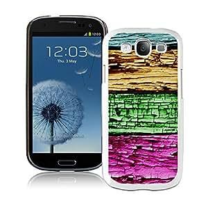 BINGO classic Colorized Wood Texture Design Samsung Galaxy S3 i9300 Case White Cover