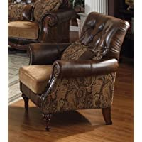 Acme 05497 Dreena Bonded Leather Chair with Pillow