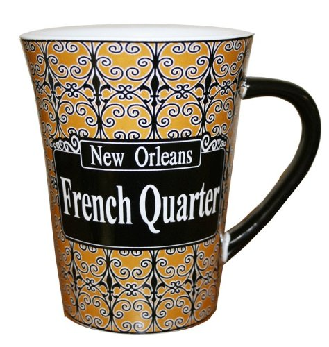 New Orleans French Quarter Iron Work Large Coffee (New Orleans French Quarter Market)