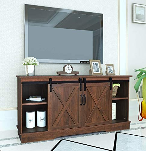 Rainbow Sophia Farmhouse Sliding Barn Door TV Stand