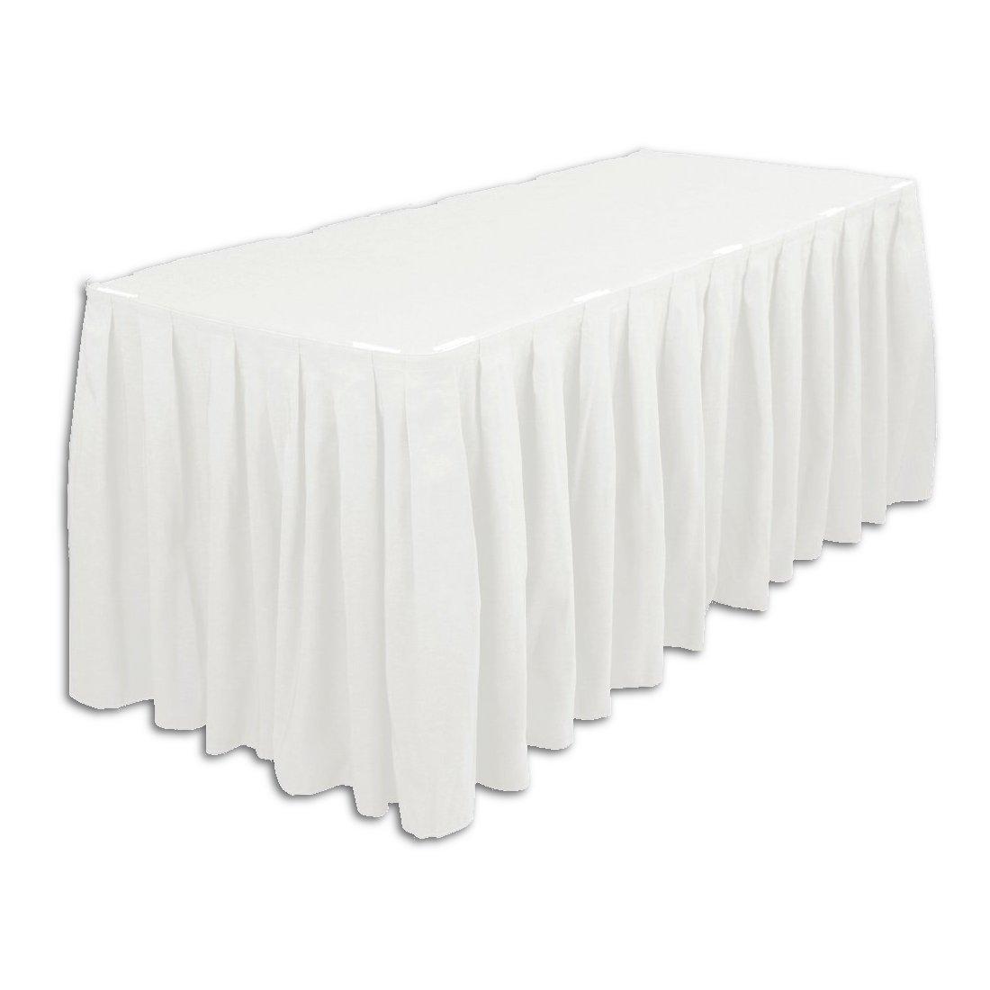 blanco Plastic Table Skirt Skirt Skirt by Party Range  edición limitada en caliente