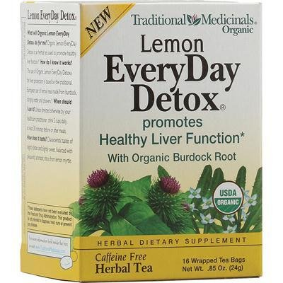 Traditional Medicinals Tea Everyday Detox Lem