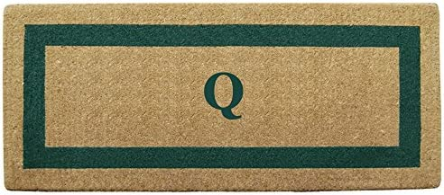 Heavy Duty 24 x 57 Coco Mat Green Single Picture Frame, Monogrammed Q