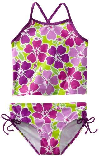 Girls Tankini (Kanu Surf Big Girls' Florence Tankini Swimsuit, Purple, 12)