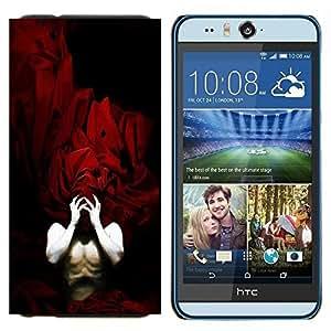 YiPhone /// Prima de resorte delgada de la cubierta del caso de Shell Armor - Fichas del cuerpo humano hombre máscara roja Manos - HTC Desire Eye M910x