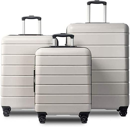 CLOUD Luggage Sets Travel Suitcase Color : Black, Size : 24 inches Male and Female Lightweight ABS Portable Consignment Suitcase Trolley Case Lock 4 Wheels