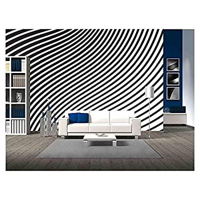 Alluring Piece of Art, Black and White Mobious Wave Stripe Optical Design Opart, Made With Top Quality