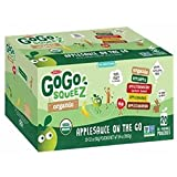 GoGo SqueeZ Organic Applesauce Variety Pack, 20 ct./3.2 oz. (pack of 6)
