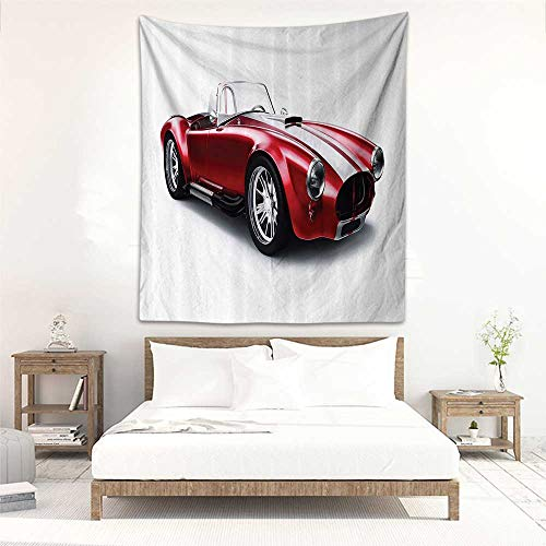 Godves Decorative Tapestry Cars Old Fashioned Vintage Coupe Car Automobile Illustration with Digital Smooth Color Effects Literary Small Fresh 47