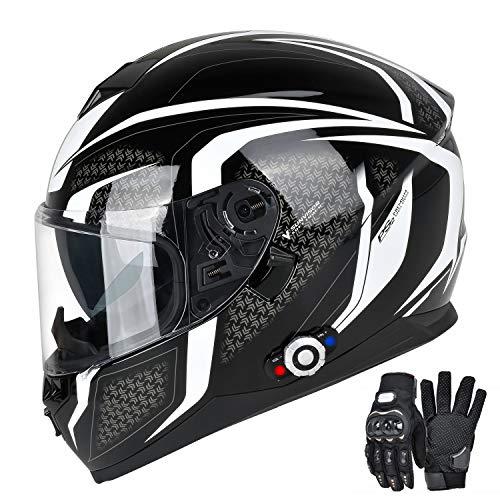 FreedConn Bluetooth Motorcycle Helmet DOT Full Face Bluetooth Helmets Motorcycle