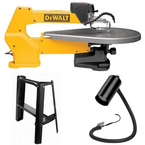- DEWALT DW788 1.3 Amp 20-Inch Variable-Speed Scroll Saw with Scroll-Saw Stand and Work Light