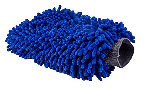 Ultimate Car Wash Mitt   2 Pack   Premium Chenille Microfiber Wash Mitt   Wash Glove   Lint Free   Scratch Free   Regular Size