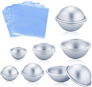 8 Pcs Multi Bath Bombs Molds Mould For Soaps /& Cake Making Mold DIY Crafts