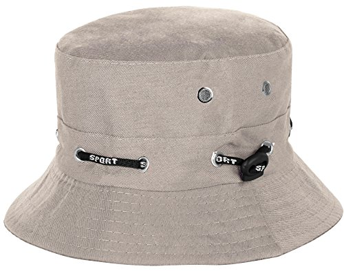 Kids Summer Bucket Sun Hat for 50+ UPF Sun Protection (Beige) (Bucket Beige)