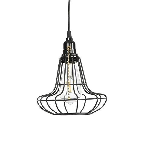 Luz colgante de jaula industrial, Creativo Lámpara de techo Barra ...
