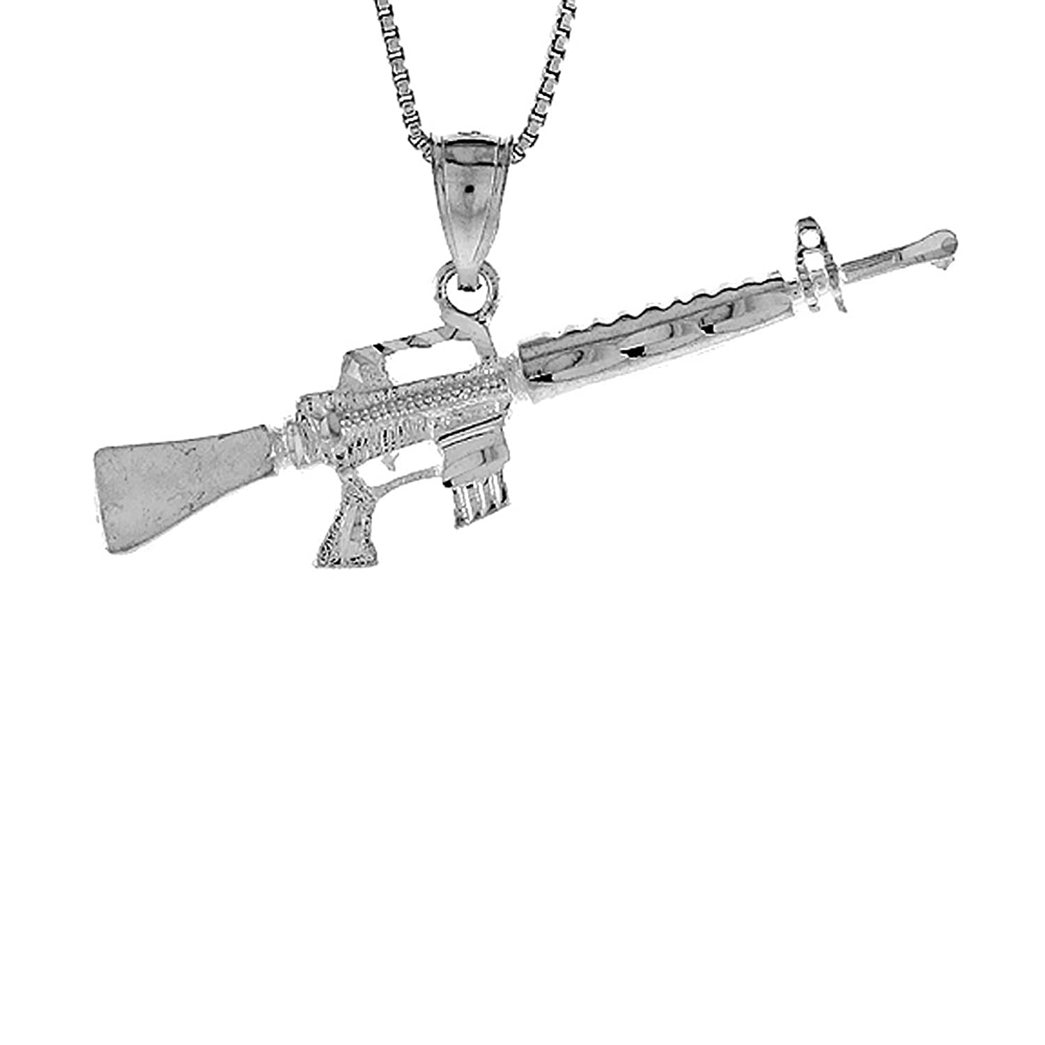 Sterling Silver Small Rifle Pendant Image 1
