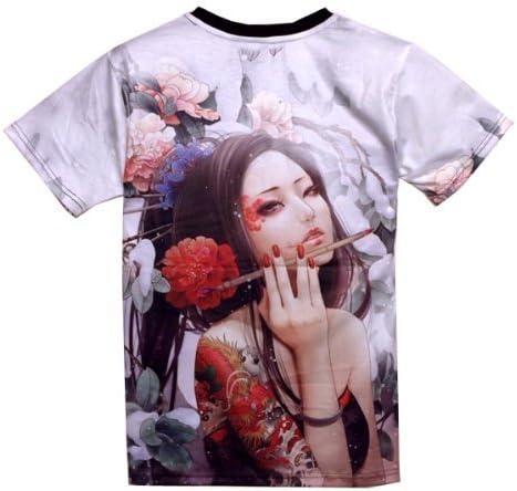 男女兼用 おしゃれ プリント Tシャツ 半袖 メンズ レディース 夏服 FU-8684