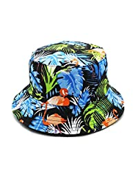 King Star Unisex Packable Reversible Fisherman Bucket Summer Sun Hat for Men Women