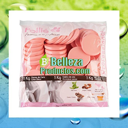 Amazon.com: Discos Cera Caliente 1 kg - Rosa Piel Sensible - Pollié: Beauty