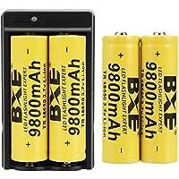 BXE 4 baterías recargables 18650 (botón superior), baterías