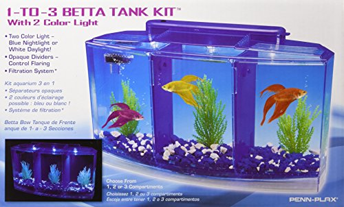 Penn-Plax-Deluxe-Triple-Betta-Bow-Aquarium-Tank-07-Gallon