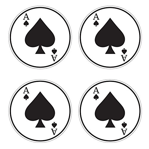 Baseball Bat Knob Decal Sticker Set - Ace of Spades