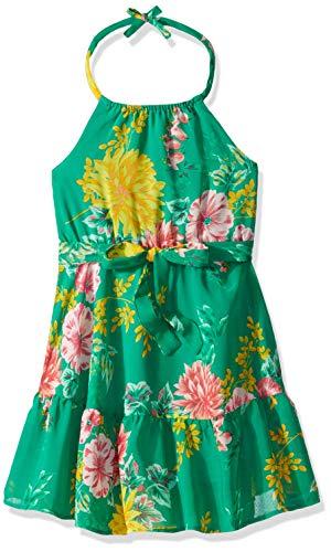The Children's Place Big Girls' Halter Top Maxi Dress, Willow Green, L -