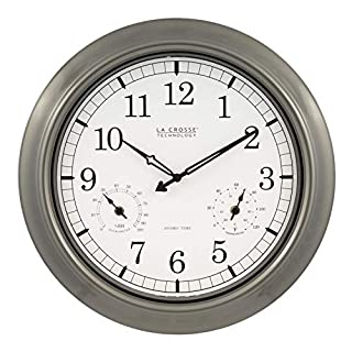 La Crosse Technology 18-Inch Atomic Outdoor Clock, Pewter (B0009J5O3K) | Amazon price tracker / tracking, Amazon price history charts, Amazon price watches, Amazon price drop alerts