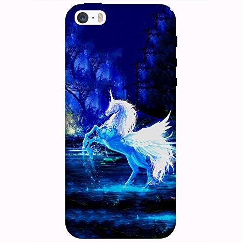 Coque Apple Iphone 5-5s-SE - Licorne forêt enchantée