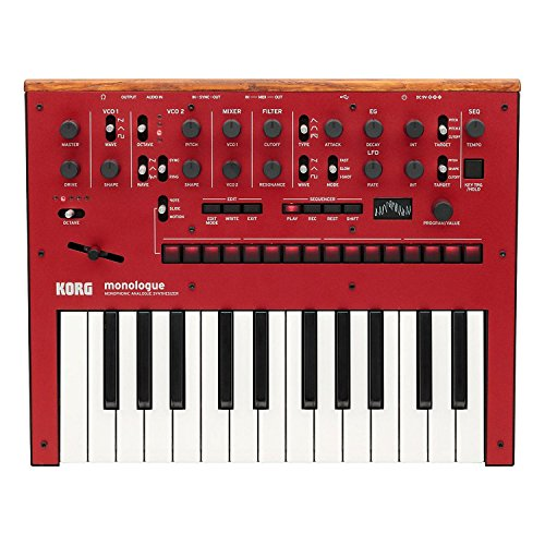 Korg monologue 25-Key Monophonic Analog Synthesizer (Red) by Korg