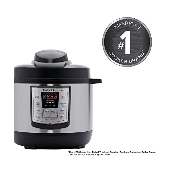 Instant Pot LUX60V3 6-in-1 Muti-Use Programmable Pressure Cooker, Slow Cooker, Rice Cooker, Sauté, Steamer, and Warmer 51 8090usDL
