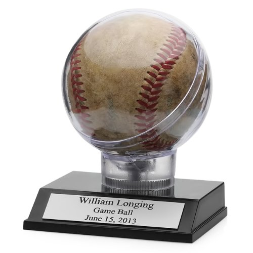 (Executive Gift Shoppe Engraved Baseball Display Case | Baseball Case with Custom Personalization )