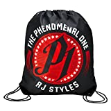 WWE AJ Styles Phenomenal One Drawstring Bag Black