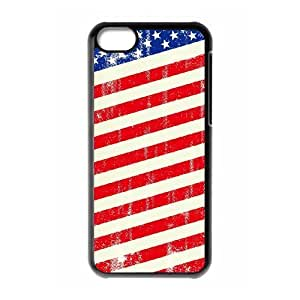 ALICASE Diy Hard Shell Case American Retro Flag For Iphone 5C [Pattern-1]