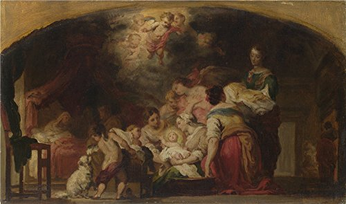 Oil Painting 'After Bartolom Esteban Murillo The Birth Of The Virgin ' Printing On High Quality Polyster Canvas , 30 X 51 Inch / 76 X 129 Cm ,the Best Study Decoration And Home Gallery Art And Gifts Is This High Quality Art Decorative Prints On Canvas