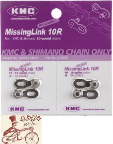 10 Speed Pack (KMC Missing Link 10-Speed 5.9mm Bicycle Chain Links--2 in a pack)