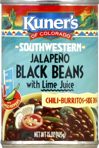 Kuner's Black Beans Jalapeno, 15-ounces can (Pack of - Beans Kuners