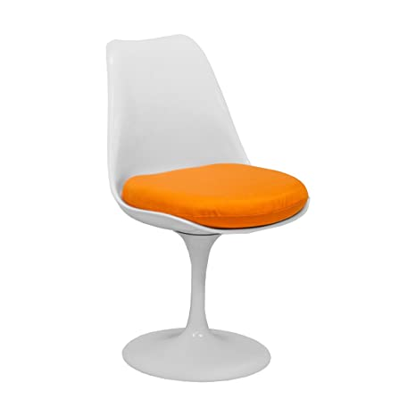 Awesome Mod Made Mid Century Modern Lily Swivel Side Chair Dining Chair Orange Inzonedesignstudio Interior Chair Design Inzonedesignstudiocom