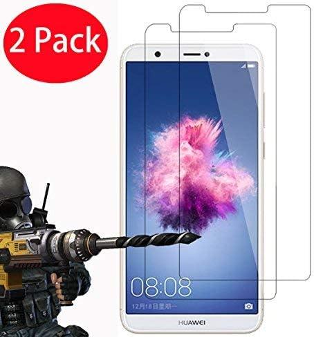 Lot de 2 – Huawei P Smart en verre trempé, Foneexpert® Verre Trempé Crystal Clear Protection d'écran LCD et chiffon pour Huawei P Smart