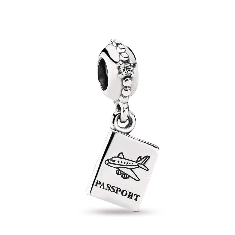 PANDORA Adventure Awaits Dangle Charm, Sterling Silver, Cubic Zirconia, One Size by PANDORA